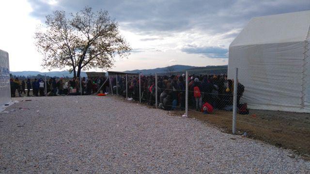 Macedonia: Gevgeljia refugee camp, december 2015 More Info
