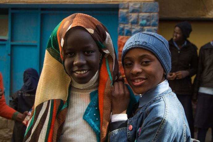 Egypt: Sudanese refugee youth attend school in Egypt.  