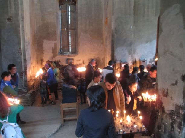 Caucasus: the Orthodox church commemorating St Georges Day. More Info