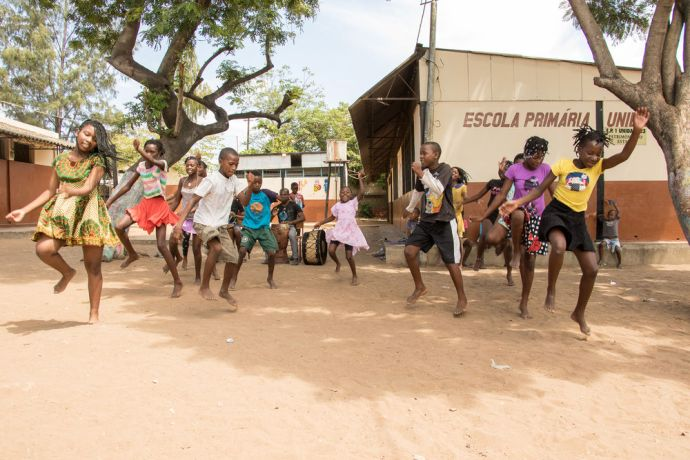 Mozambique: Maputo, Mozambique :: Children from the Mafalala village put on a dance performance. More Info