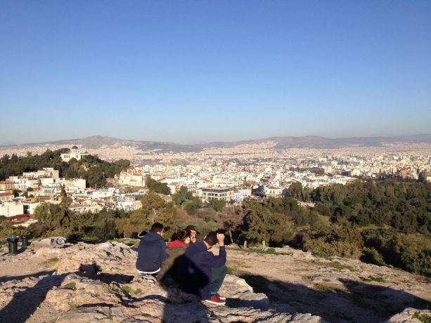 Greece: Athens, seen from Mars hill (by Acropolis), where Paul preached about the unknown God being Christ. Acts 17:22. More Info