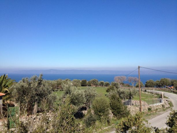 Greece: Lesbos, looking across the Aegean see to the coast of Turkey. More Info