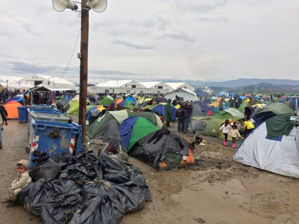 Macedonia: Refugees camping out in the mud at the Greek-Macedonian border near Idomeni. More Info