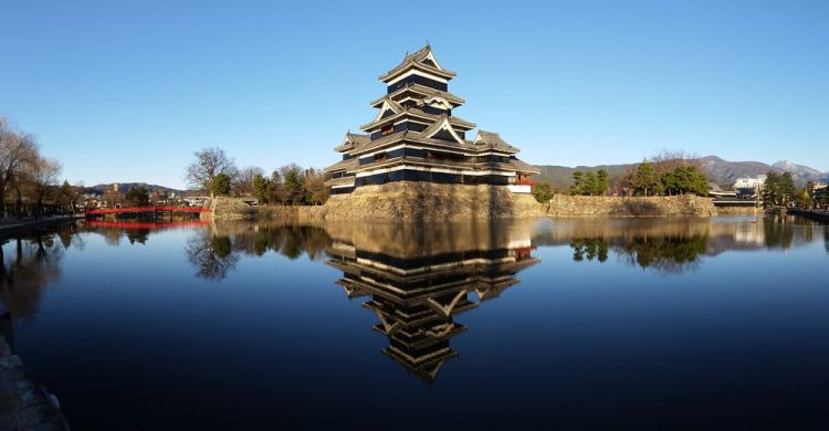 Japan: A beautiful wooden castle in the city of Matsumto in Nagano prefekture in Japan. More Info