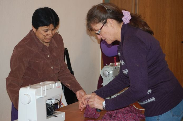 Albania: Erna teaches ladies how to sew as well as about Jesus. More Info