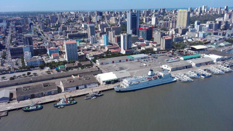 Mozambique: Maputo, Mozambique :: Ship in Port. More Info