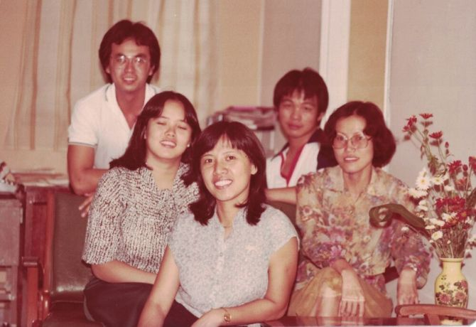 Singapore: The OM Singapore Team in 1981 - with National Director Rodney Hui and a young Lawrence Tong More Info