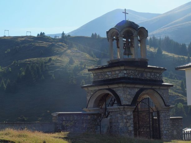 Macedonia: A typical Macedonian rural scene overlooked by an Orthodox church. More Info