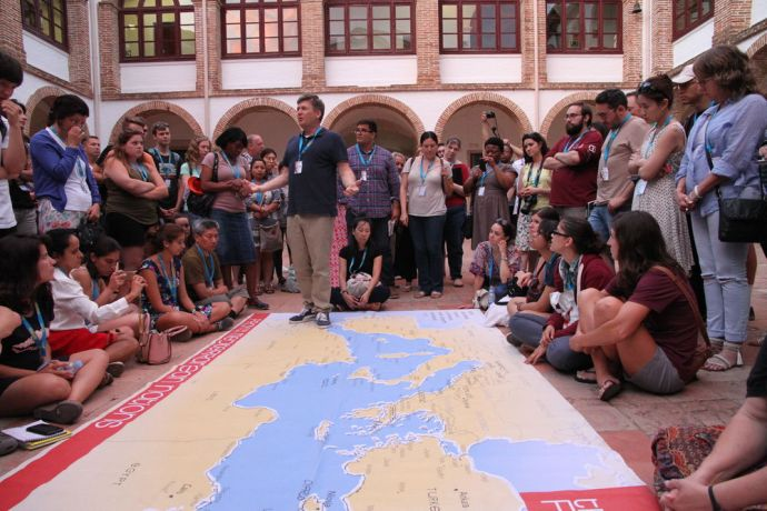 Spain: In the courtyard, praying for the Mediterranean region. More Info