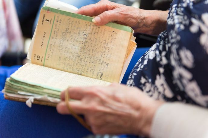 Israel: The Hope of Israel outreach team experiences the warm hospitality of an Israeli woman, who shares recipes from her cookbook, which are all handwritten by her in Hebrew. More Info