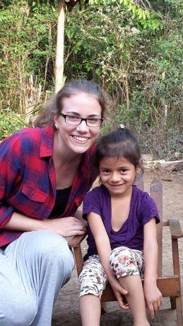 El Salvador: Caro from Germany on her first time in La Ceiba, El Salvador. More Info