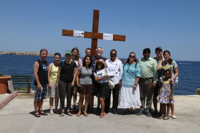 Malta: The Transform team members ready to pray for people in Malta. More Info