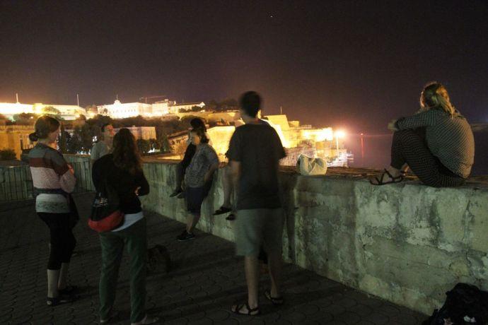 Malta: Praying for Malta during a nightly prayer walk. More Info