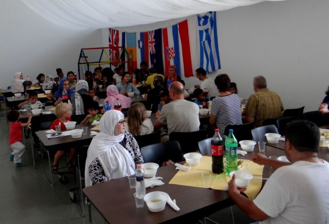 Hungary: Lunch time treat provided by mission volunteers in Hungary. More Info