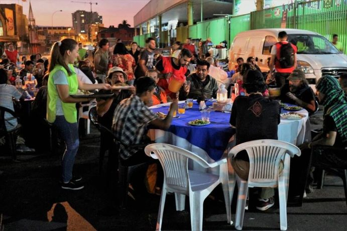 Chile: Once a month the OM Chile team (with the help of local churches) feeds the homeless of Santiago a hot sit-down meal out in the middle of the local street market. Every month about 100 men and women are treated with dignity as they are fed with physical and spiritual food. More Info
