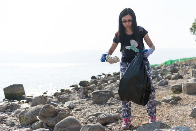Israel: Among other things during the four-week outreach, the Hope of Israel team cleaned up a beach on the Sea of Galilee.  Photo by Jenny Oetzell More Info