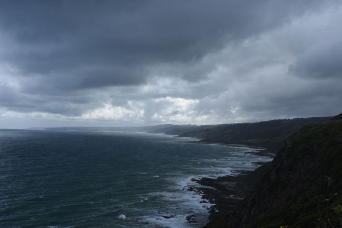 Australia: formidable clouds form along the Great Ocean Road coastline in Victoria, Australia. More Info