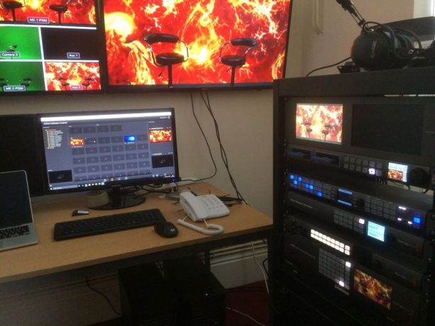 United Kingdom: The control room with monitors and equipment goes live More Info