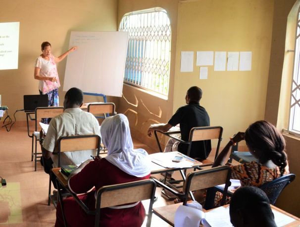 Ghana: Rebecca providing training to OM Ghana staff and some guests on how to minister to street children. More Info