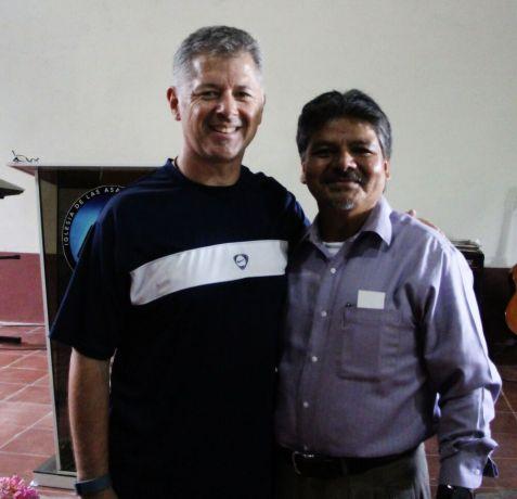 El Salvador: Tony McCormick from USA, visiting Pastor Jorge Quiros, in El Salvador More Info