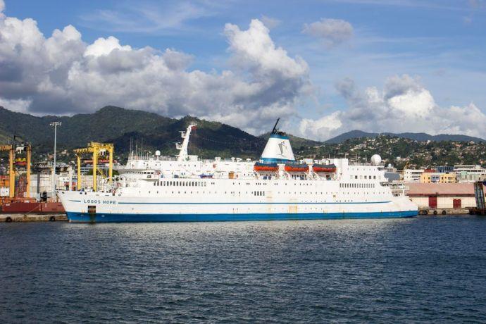 Trinidad & Tobago: Port of Spain, Trinidad  Tobago :: Logos Hope at her berth in Port of Spain, Trinidad. More Info