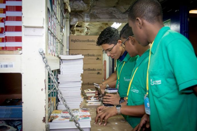 Trinidad & Tobago: Port of Spain, Trinidad  Tobago :: Crew for a day participants experience what it is like to work in Logos Hopes book hold. More Info