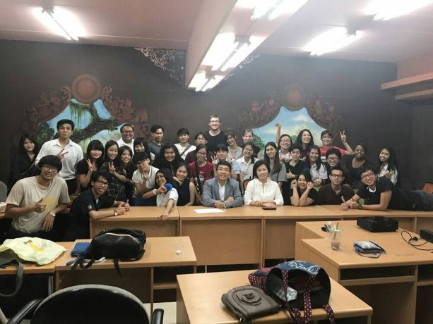 Thailand: This is our regular meeting on every Tuesday. Students come to practise speaking English and this is our way to build friendship with them. More Info