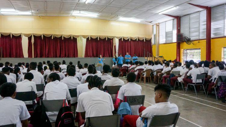 Trinidad & Tobago: Port of Spain, Trinidad  Tobago :: A Logos Hope team visits Claxton Bay high school in Trinidad. More Info