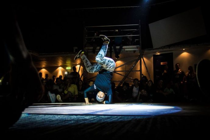 Trinidad & Tobago: Port of Spain, Trinidad  Tobago :: A b-girl performs at Logos Hopes first breakdance competition held in Port of Spain, Trinidad. More Info