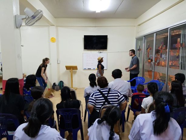 Thailand: This short term team presented a Bible story in a newly planting church in Thailand. All the audience were not Christian Thai, many of them were Buddhist. More Info