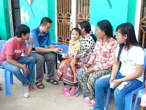Singapore: Alvin Tey at a medical camp in Takeo Province, Cambodia More Info