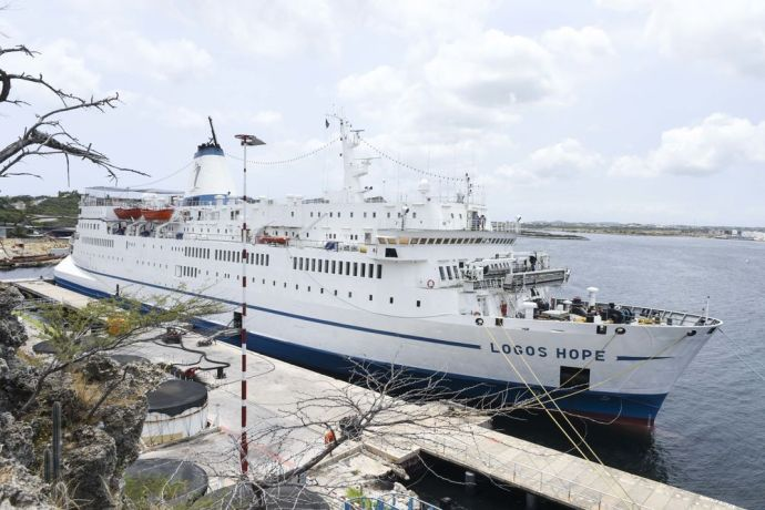 Curaçao: Willemstad, Curaçao :: Logos Hope with her new coat of paint after emerging from dry dock. More Info