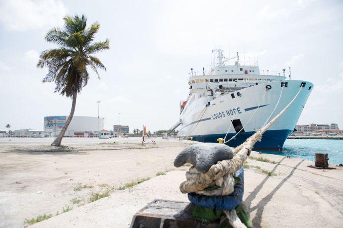 Aruba: Oranjestad, Aruna :: Logos Hope at her berth in Oranjestad, Aruba. More Info