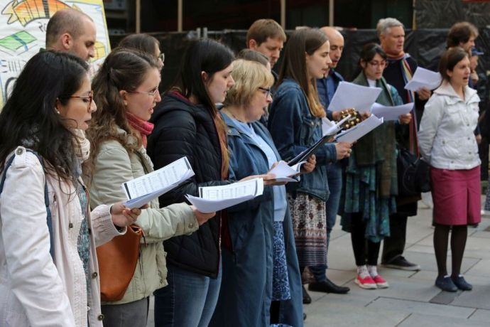 Austria: The Sound of Easter team does a musical outreach on Viennas main shopping street. More Info