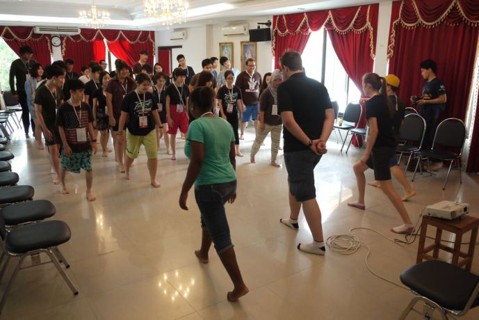 Thailand: A short term team visiting OM Thailand engages the local youth with games and a mime. More Info