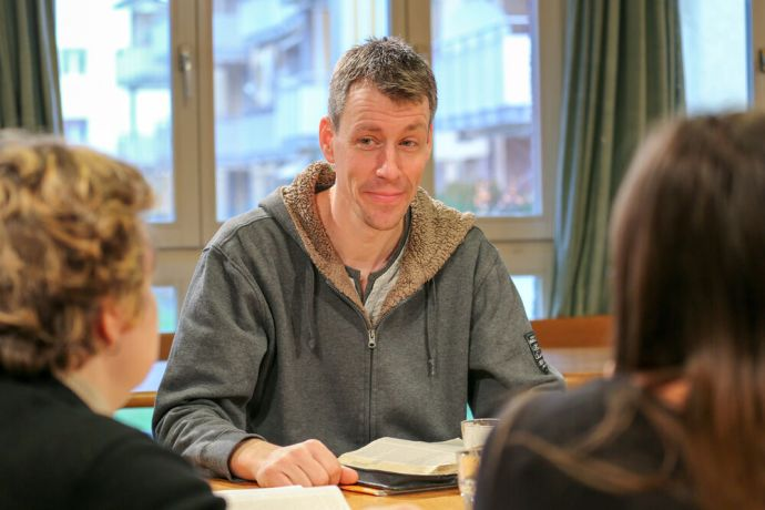 Switzerland: The Hope for Zurich-Team leads a Bible study at a local church. Photo 4 of 4. Photo by Anja B. More Info
