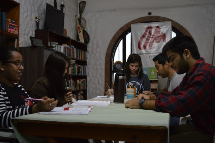 Paraguay: Missions-minded students study English at OM base in Asunción, Paraguay. More Info