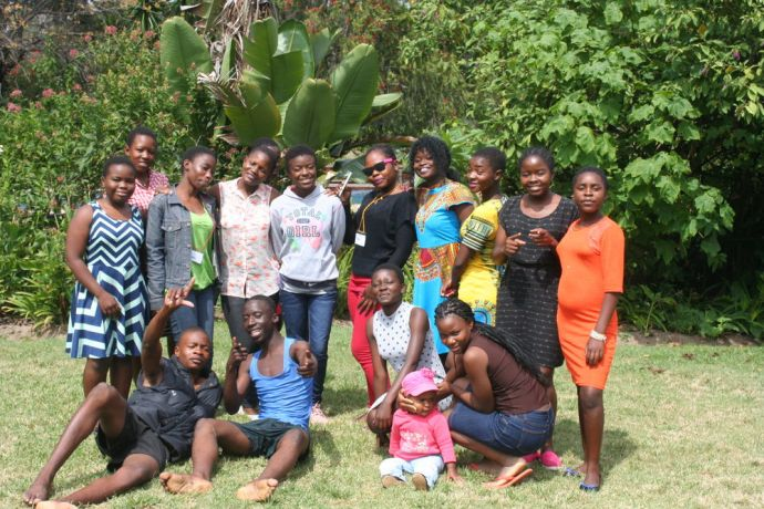 Zimbabwe: Campers at Next Generation Youth Camp pose for a picture More Info