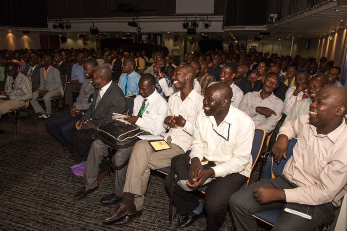 Haiti: Port-au-Prince, Haiti :: More than 300 pastors gather in the Hope Theatre for a conference on board. More Info