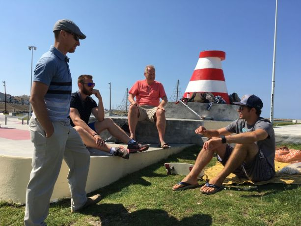 Portugal: The beach is a great place to meet people and share about Christ, Transform Surf team in Portugal. More Info