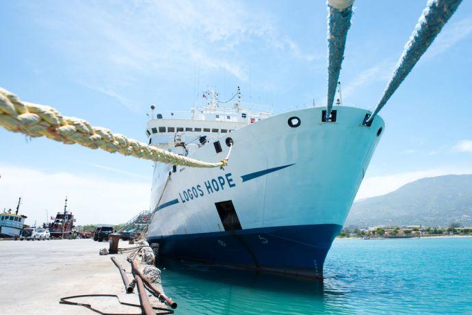 Haiti: Port-au-Prince, Haiti :: Logos Hope at her berth. More Info