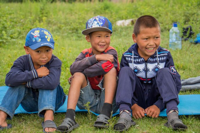 Kids camp for unreached community, Russia