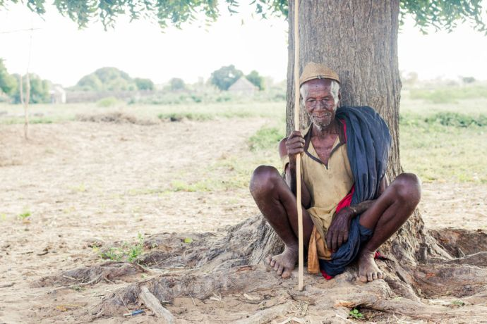 Madagascar: A village elder rests under a tree in Taviramongy, Madagascar. More Info