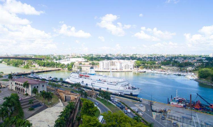 Dominican Republic: Santo Domingo, Dominican Republic :: Logos Hope at her berth in the city port. More Info