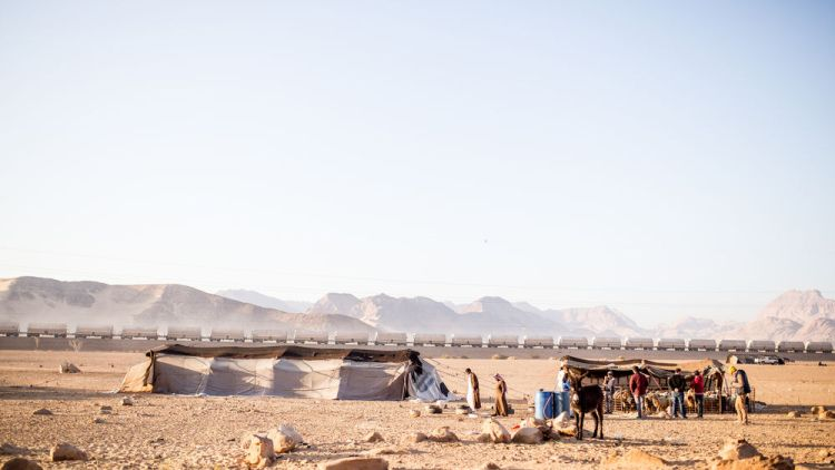 Israel: OM teams visit Bedouin tents in the desert.  Photo by Justin Lovett More Info
