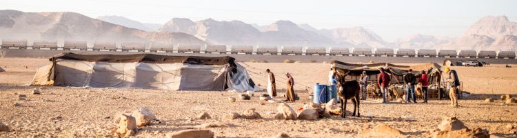 Near East: OM teams visit Bedouin tents in the desert.  Photo by Justin Lovett More Info