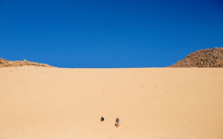Near East: OM team visits Bedouin in the desert.  Photo by Justin Lovett More Info