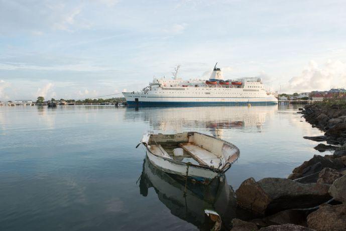 Antigua & Barbuda: St. Johns, Antigua and Barbuda :: Logos Hope at her berth in port. More Info