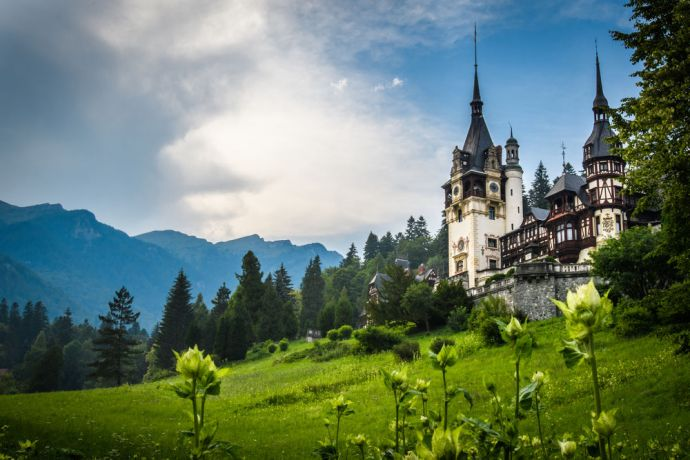 Romania: A traditional castle in the mountains of romania.  Photo by Garrett N More Info