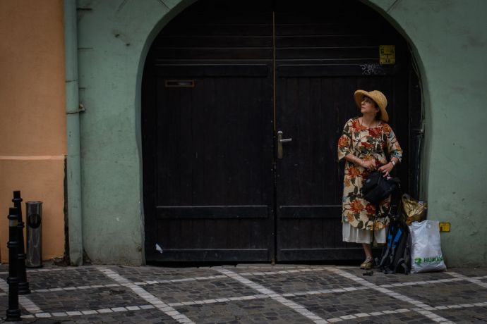 Romania: Street photography in Brasov Romania.  Photo by Garrett N More Info